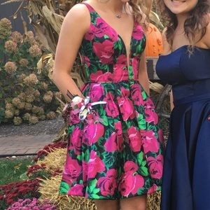 SHERRI HILL short floral dress